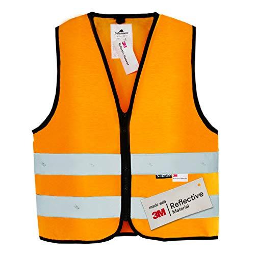 Salzmann 3M Gilet de sécurité pour Enfants, fabriqué avec du Ruban réfléchissant 3M, Orange S