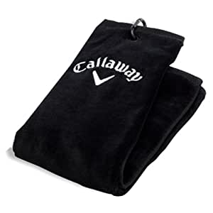 Callaway Tri-Fold Towel - Black, 5.5 x 21 Inch