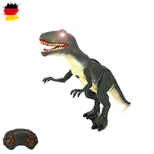 HSP Himoto Riesengroßer RC Ferngesteuerter Dinosaurier T-Rex, ca. 50cm groß, Gehfunktion, Sound- und Lichteffekte inkl. Fernsteuerung (Kostüm T-rex Kleinkind)