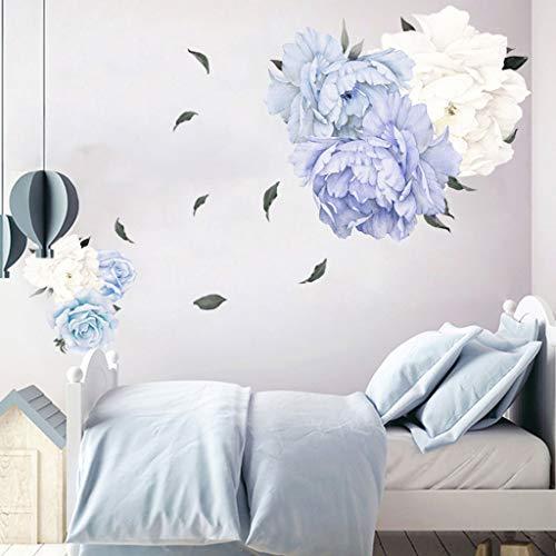 TianranRT❄ Wandaufkleber 3D,Pfingstrose Rose Blumen Aufkleber Wandkunst Aufkleber Kinderzimmer Kinderzimmer Dekoration Geschenk,Multicolor - Wechselstrom-wand-ladegerät-adapter