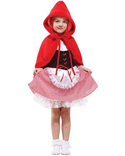 Forever Young Kids Girls Little Caperucita Roja Disfraz