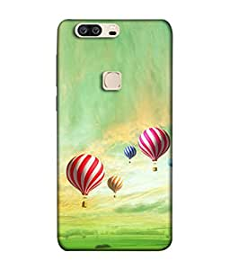 Snapdilla Designer Back Case Cover for Huawei Honor V8 (Sky Landscape Grass Fields Altitude Basket)