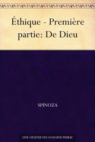Couverture du livre Éthique - Première partie: De Dieu