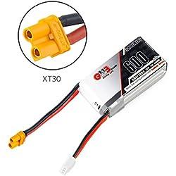 GNB 600mAh LiPo batería Pack 2S 7.4V 50C XT30 Conector para FPV Racing Drone