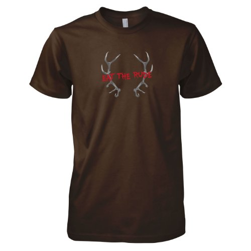 TEXLAB - Eat The Rude - Herren T-Shirt Braun