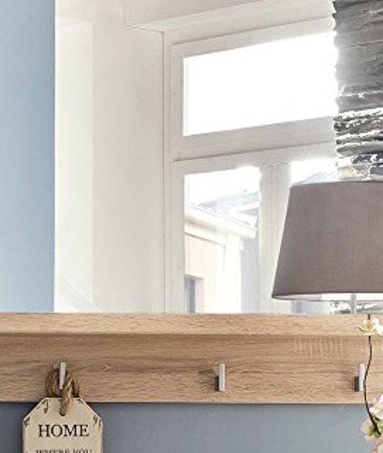 trendteam SYD45345 Garderobenspiegel mit Ablage Eiche hell Nachbildung, BxHxT 100 x 78 x 16 cm - 4