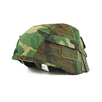 COUVRE PROTEGE PROTECTION CASQUE CAMOUFLAGE CAMO WOODLAND US MILTEC 16671520 AIRSOFT
