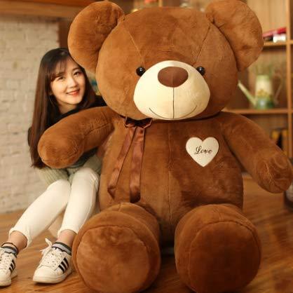 XXCKA Umarmung Bär Puppe Teddybär Puppe Panda Süßes Mädchen Plüschtier Schlafen Halten Big Bear 40 cm Dunkelbraun 1 STK (Big Stofftier Bear)