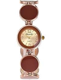 SJXIN Reloj Elegante Reloj de Cuarzo de Moda Reloj de Pulsera de cerámica de imitación de