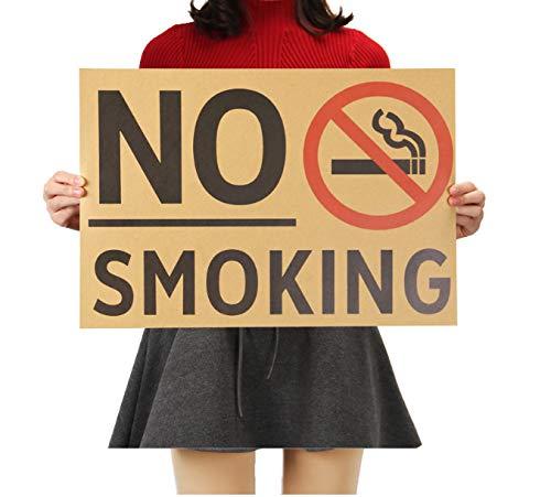 Vintage Poster Promotion Kein Rauchen Commonweal Poster Aufkleber Wie Folgt 51.5x36cm ()