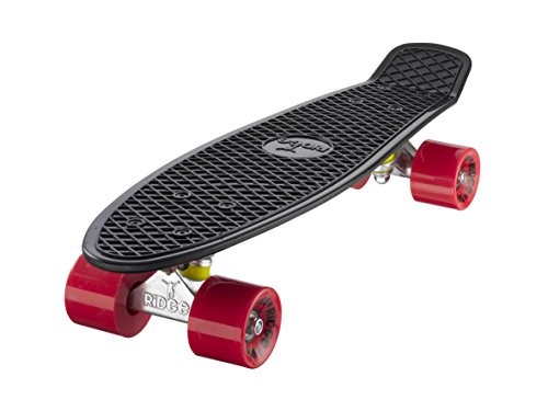 Ridge Skateboards 22' Mini Cruiser Skateboard, Nero/Rosso