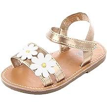 Zapatos de niña, Switchali Recién nacido bebé niñas con suela blanda Antideslizante Moda casual Calzado de deportes Flor verano Sandalia Zapatos princesa de vestir barato