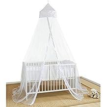 Mosquito Net 4 U Baby Baby-white001 Cama con dosel y protección contra insectos,