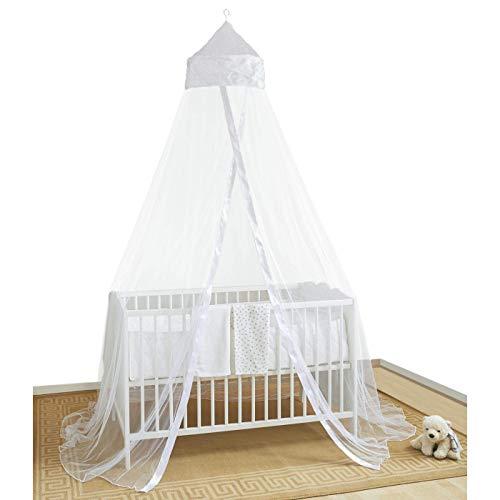 BABY BALDACHIN INSEKTENSCHUTZ FÜR BABYS IM KINDERBETT ODER IM BABY-KÖRBCHEN - Babybett- Zubehör für Baby-Mädchen und Kleinkinder gegen Insekten, Spinnen, Mücken. Einfache Montage.