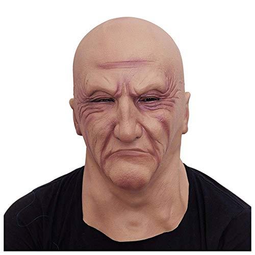 Wsjdmm Streich Requisiten Kopfbedeckungen Perücken Lustige Maske Film und Fernsehen Simulation Gesichtsmaske Latex Männliche Kapuze Tarnung Leicht zu Erlauben Horror Echtes Gesicht Aufkleber Gesicht M (Brille Auf - Können Sie Fernsehen)