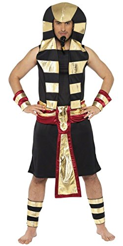 Mens Royal Pharaoh Ancient Egyptian Pahroah Fancy Dress Costume Outfit Medium (Medium)