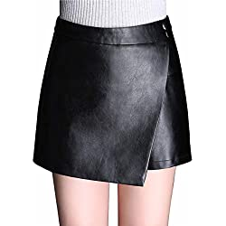 Skitor Lápiz Chulas Falda Lápiz Mujer Elegante Falda-pantalón Slim Sexy Skirt Cuero Negocios Falda Push Up Corte Ajustado Faldas Cortas