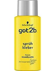 Schwarzkopf Got2b Sprühkleber Haarlack, Halt 6, 3er Pack (3 x 100 ml)