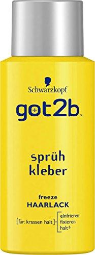 Schwarzkopf Got2b Sprühkleber Haarlack, Halt 6, 3er Pack (3 x 100 ml) (Spike-haar-gel)