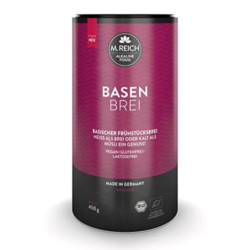 M.Reich | BasenBrei | Basisches Bio Müsli 450g Porridge ohne Zucker | Made In Germany | Frühstücksbrei Glutenfrei Vegan | Vollkorn Hafer Frühstück Muesli Brei