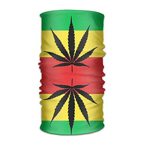 Rasta Weed Microfiber Headwear Multifunctional Bandana Facemask Seamless Scarf Mufflers By Outdoor -