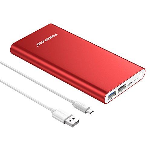 Upgrade-VersionPoweradd-Pilot-2GS-Powerbank-10000mAh-mobile-Handy-Power-Pack-mit-Alugehuse-und-Automatische-Erkennung-Techologie-fr-Ladung-des-Smartphones-usw