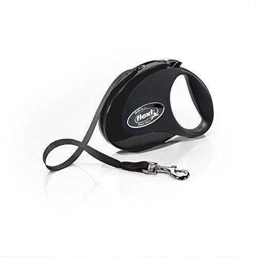 Flexi Roll-Leine COLLECTION M Gurt 5 m schwarz/schwarz für Hunde bis max. 25 kg (Collection Roll)