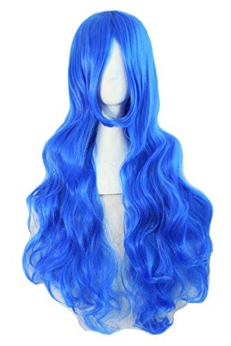 Frauen lang gewellte lockige Haar Perücken Drawstring volle Perücke Synthetische Perücken (Haare Blonde Ideen Kostüm Curly)