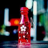 Unzerbrechlich Sport Reise Wasserflasche Tragbare auslaufsicher Radfahren Camping Wasser Tasse 550 ML Soda-Flasche Mit Lanyard - Rot