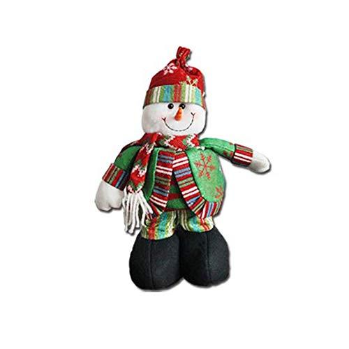 Jaysis 1 stücke Teleskop Puppe Weihnachtsmann Schneemann Puppe Weihnachten Spielzeug Hause Zimmer Ornament Dekor Niedlich -