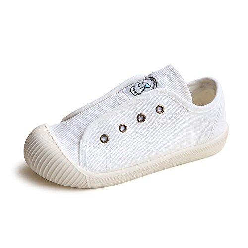 AILEESE Kid Denim Kinder Leinwand Baby Jungen Mädchen Soft Bottom Casual Flache Kleinkind Schuhe Student Sneakers Weiß