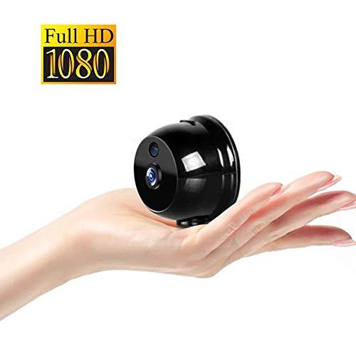 OMZBM 1080P HD 360 ° Drehen Drahtlose Wifi Mini-Kamera Smart Home Tragbare Kleine App Sicherheits-Überwachungskamera mit Bewegungserkennung Warnung IR Nachtsicht (Geheimen Kamera Für Autos)