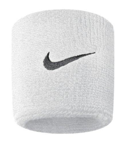 Schnelle Fußball-tennis (Nike 9380/4 Swoosh Schweißband, White/Black, One Size)