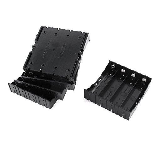 Preisvergleich Produktbild 5 Stück Kunststoff-Kasten-Halter-Kasten für 4 x 3,7 V 18650 Akku