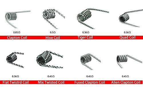 DIY-24H - 16x Coils Fertigwicklung Alien Clapton, Hive, Tiger, Quad, Flat Twisted, Mix Twisted, Fused Clapton, Wire Prebuilt RDA RBA RTA Kanthal A1 Draht