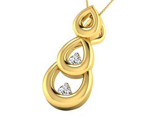 'His & Her 0.01cts Diamond Pendant in 9KT White Gold (GH color, PK Clarity) with 16Silver Chain, 10 carati (417) oro giallo, cod. HHPXP9508Y/10/NS
