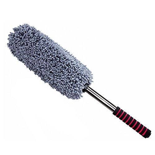 WINOMO Auto-Wachs-Bürste Einziehbarer Handgriff Mikrofaser-Bürste Mehrzweck-Auto-Staubtuch zum Waschen des Autos (grau) -