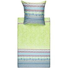 Bassetti - Juego de cama (satén), algodón, azul, 155 x 220 cm