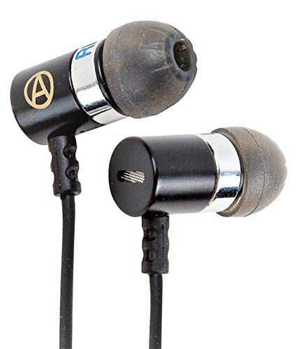 Auriculares: Aislamiento de ruido con potente controlador de graves, la mejor calidad IEM, sonidos agudos e intermedios muy claros, proporcionados por unos Controladores Duales Dinámicos: la élite de Audiophile.
