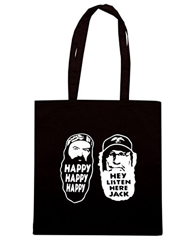 T-Shirtshock - Borsa Shopping FUN1287 duck dynasty die cut vinyl decal car sticker 15 01433 Nero