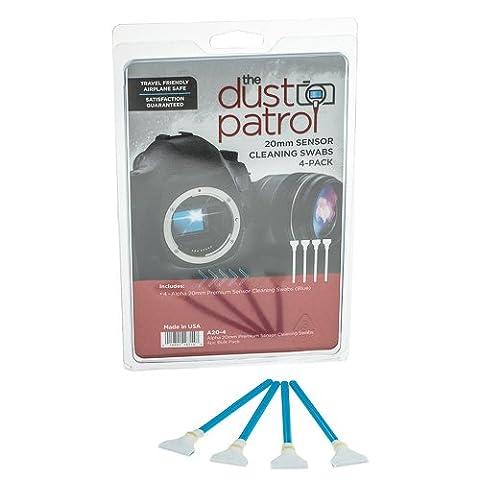 The Dust Patrol Alpha 20mm Premium Sensor-Swabs Écouvillons pour nettoyage du capteur (boîte de 4) (Bleu)