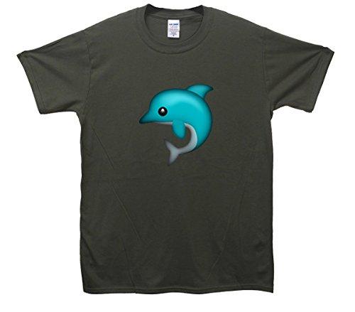 Dolphin Emoji T-Shirt Khaki