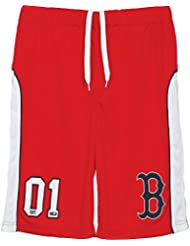 Majestic MLB Boston Red Sox Pickering en maille pour Homme Rouge