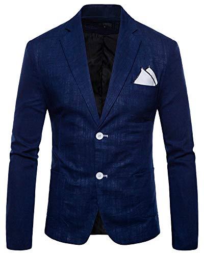 1e62bfbe9fe8 Uomo elegante solido un pulsante partito prom smoking slim fit blazer  vestito giacca marina s