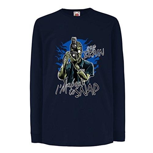 Lepni.me t-shirt bambini/ragazze fotografo zombi, abbigliamento giornalisti, esperti di fotografia, regalo umoristico (3-4 years azzulo multicolore)