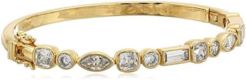 nicole-miller-cushion-mixed-stone-row-hinge-gold-clear-bangle-bracelet