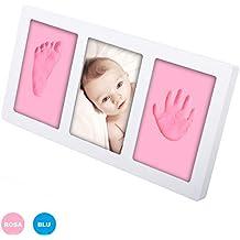 40f6eb3fc2 Kit Cornice con Impronte Bambini Rosa o Blu, Mani e Piedi Neonato Idee  Regalo Originale