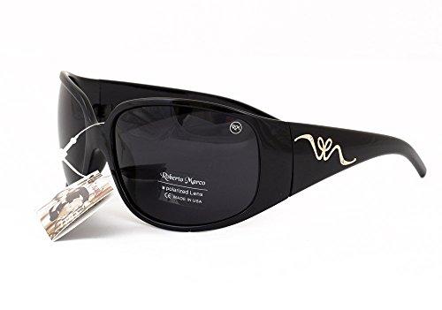 8f5a5946163bf0 Roberto Marco pilotes lunettes de soleil polarisées pour femme Cadre en  plastique, Verres Gris –