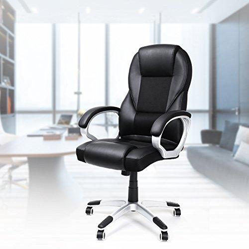 Songmics sedia da ufficio girevole a prezzi di convenienza for Sedia ufficio alta