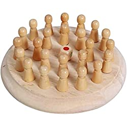 FinWell Kids Wooden Memory Match Stick Chess Game Educational Toys Parent-Child Interaction Toy Three-Dimensional Imagination Improving